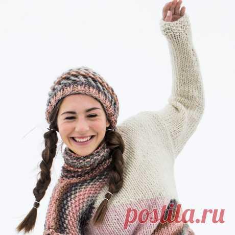 Шапка со скрещенными петлями - схема вязания спицами. Вяжем Шапки на Verena.ru