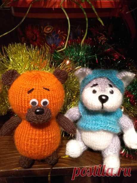 Медвежонок и щенок. Вязаные игрушки - подарок любимым