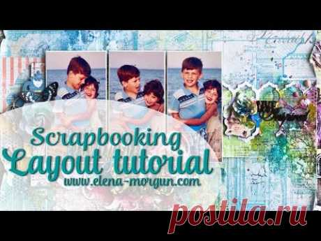 Scrapbook LO tutorial using ColourArte products from Elena Morgun