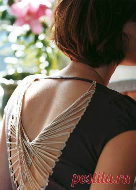 платье, декор спинки