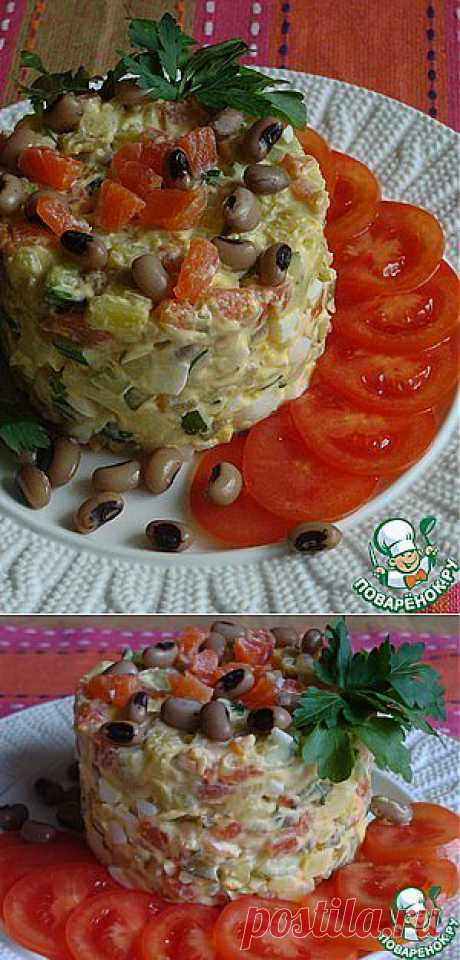 Нежный рыбный салат - кулинарный рецепт