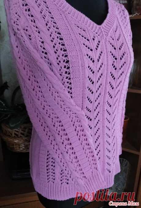 Пуловер розового цвета Всем доброго дня!!!  В журнале Сабрина №7 / 2013 год встретила описание пуловера. Он мне очень понравился, решила связать обязательно...