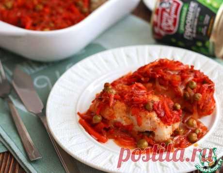 Треска под маринадной заливкой с горошком – кулинарный рецепт