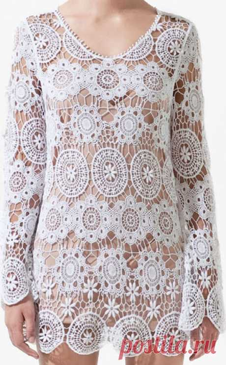 Тонкие фактуры-нежные ажуры.Туника от Zara & платье от O