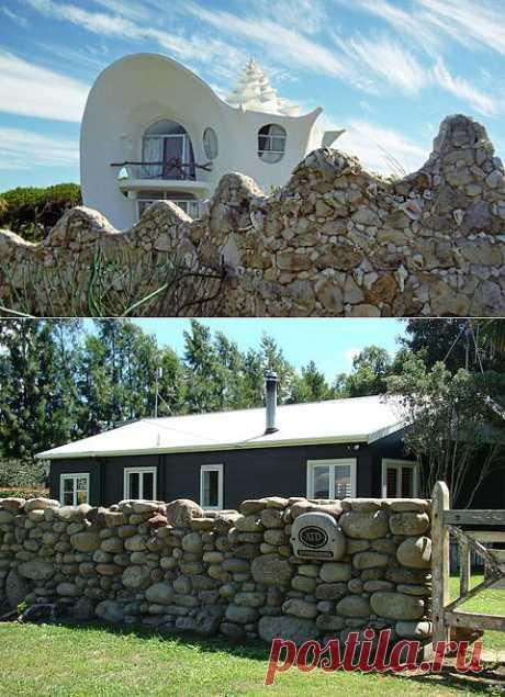 Забор из камня своими руками | Как построить каменное ограждение на даче