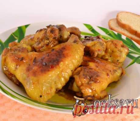 Острые куриные крылышки запеченные с карри и медом в мультиварке фото рецепт приготовления