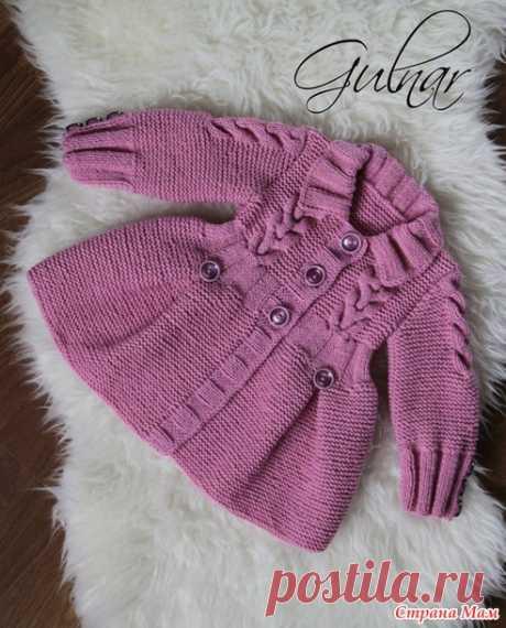 Пальто для девочки - Вязание - Страна Мам