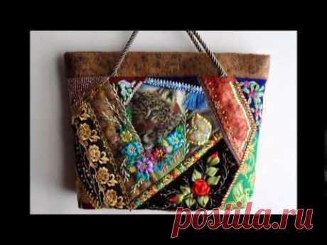 Интересные варианты сумки пэчворк. Лосткутные сумки в стиле пэчворк своими руками - YouTube