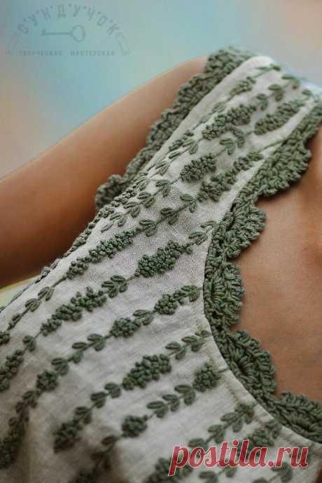 Элементы, связанные крючком, в обычной одежде | Сашка-Вязашка | Яндекс Дзен