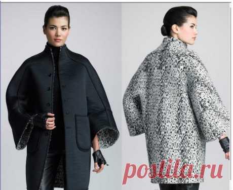 El patrón del abrigo interesante la ropa A la moda y el diseño del interior por las manos