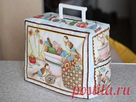 Чехол для швейной машинки с подкладкой - Ярмарка Мастеров - ручная работа, handmade