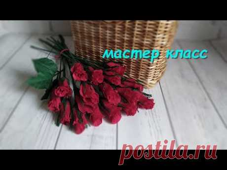 Букет из Конфет! Розы из Гофрированной Бумаги. - YouTube