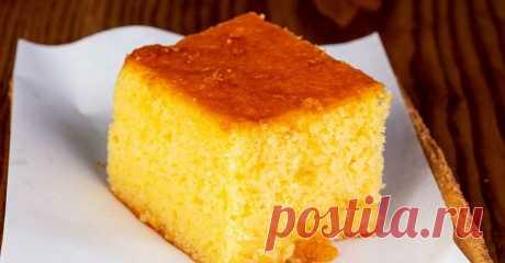 Тыквенно-лимонный манник без муки, масла и яиц: быстрый и сочный осенний пирог