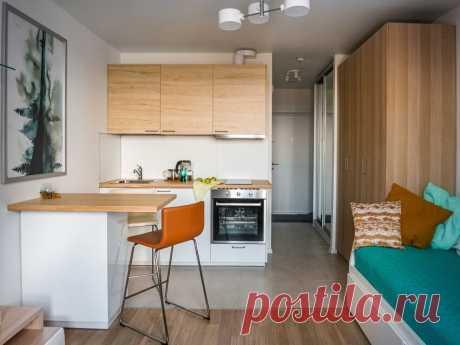 Готовое решение: бюджетный стильный интерьер студии площадью 21 м²   Architect Guide   Яндекс Дзен