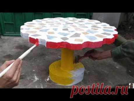 Как сделать своими руками стол из цемента для дачи и садa/How to make a table with your own hands