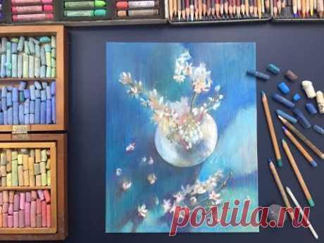 Онлайн мастер-класс по пастельной живописи «Вишневый цвет»