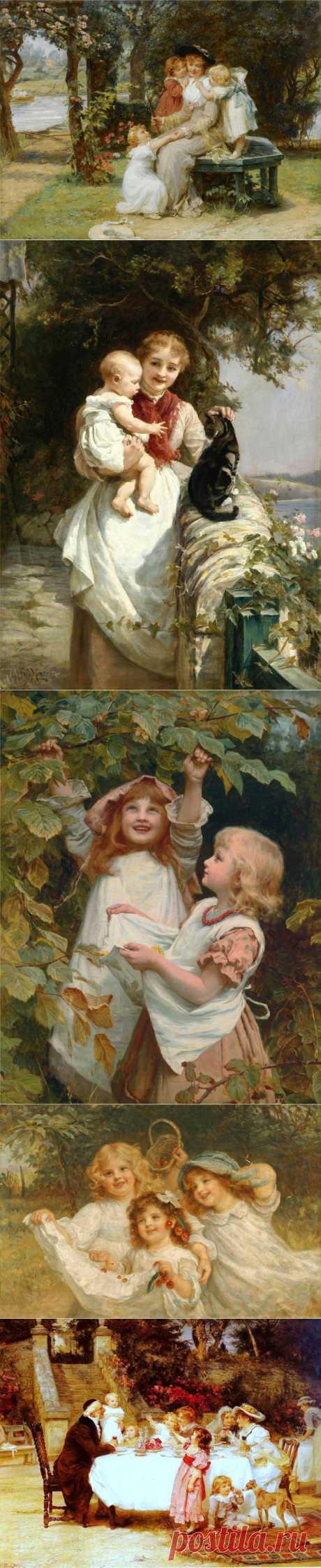 Детская страничка...жанровое,викторианское | Frederick Morgan.