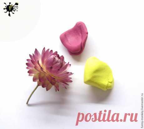 Создаем серьги с цветами бессмертника из полимерной глины | Журнал Ярмарки Мастеров