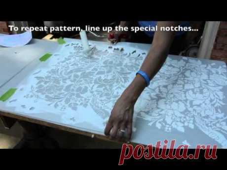 How to Stencil on Furniture: DIY Tutorial - Thrift Diving - YouTube