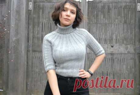 Вяжем обалденный свитер спицами! Свитер на круглой кокетке для самых стильных (Вязание спицами) – Журнал Вдохновение Рукодельницы