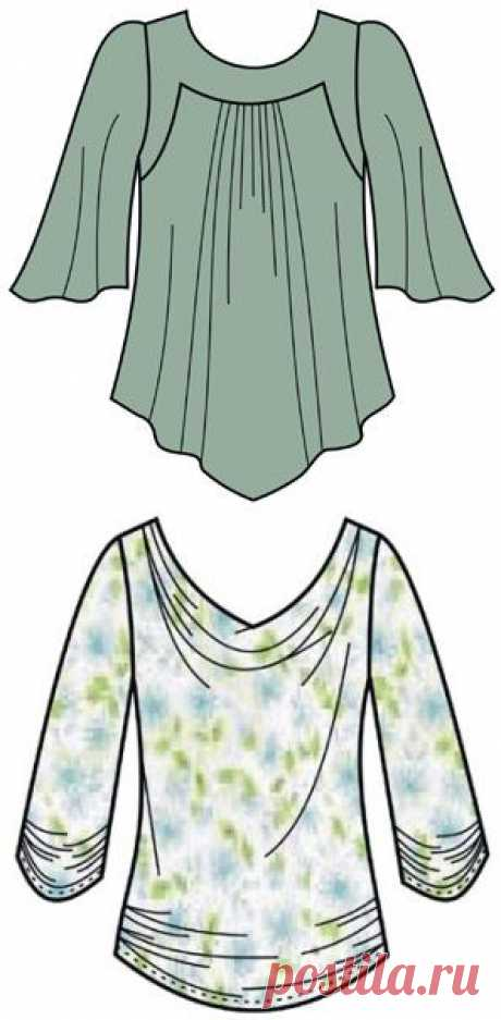Patterns of blouses - Free patterns for sewing of clothes. Porrivan