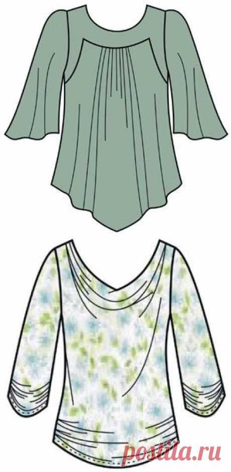 Выкройки блузок - Бесплатные выкройки для шитья одежды. Porrivan
