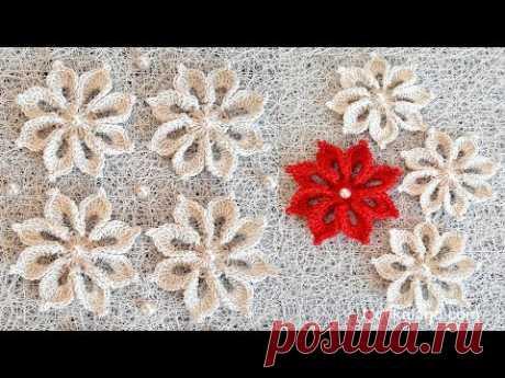 DIY Crochet  Flower Tutorial VERY EASY  Flowers for decor