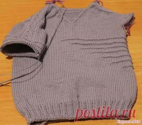 Приглашение на совместник Tropper Top Down sweater - Страна Мам