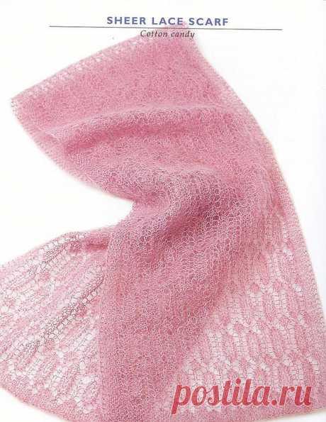 Розовый шарф.