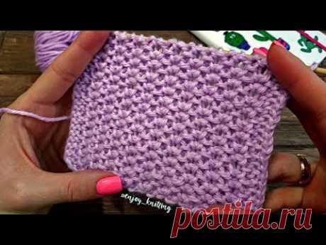 ПРОСТОЙ Объемный Узор Спицами для КАРДИГАНА / Easy knitting pattern for sweaters/cardigans