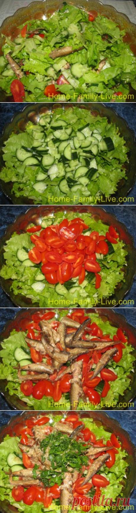 La ensalada de los boquerones - poshagovyy fotoretseptkulinarnye las recetas