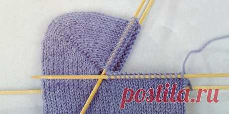 Варианты пяточек для вязанных носочков.