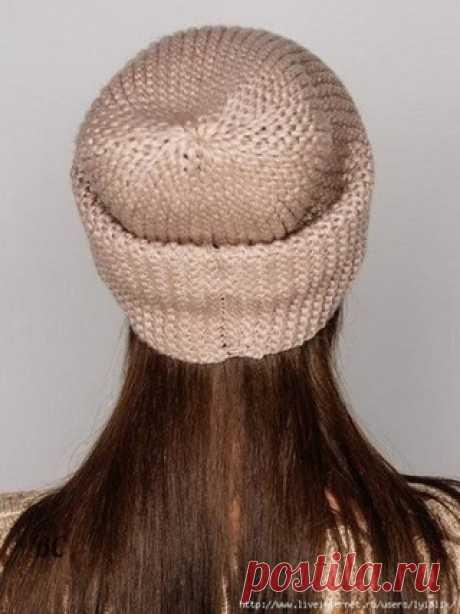КАК СВЯЗАТЬ ШАПКУ-БИНИ СПИЦАМИ Молодежная шапка-носок вязаная платочной вязкой из изнаночных петель  Состав: 70% шерсти, 30% нейлона.  Показать полностью…