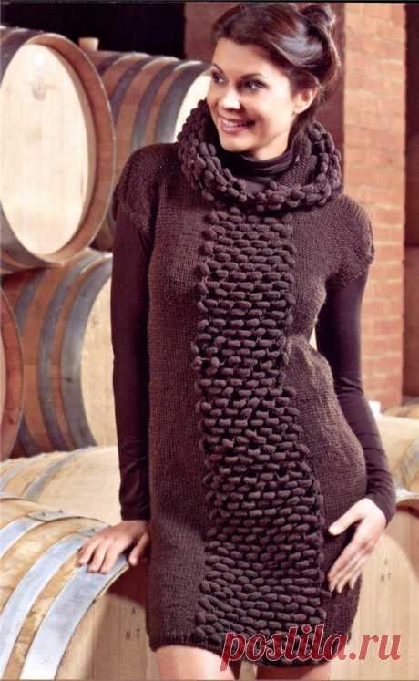 Как связать красивое женское платье? Схемы вязаного платья для женщин спицами и крючком