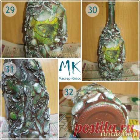 «Мужская» подарочная бутылка. Мастер-класс » Дизайн & Декор своими руками