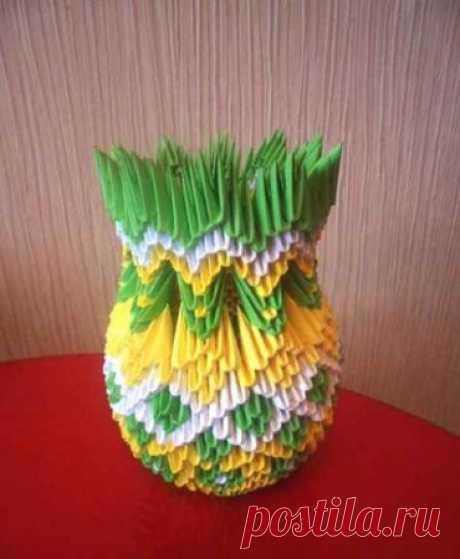 Модульное оригами ваза. 3d ваза - схема оригами - Оригами - Своими руками - Мастер-класс, советы