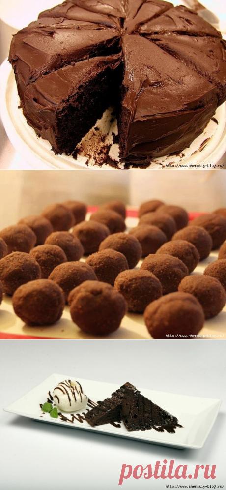 """10 """"божественных"""" шоколадных десертов, которые можно приготовить за 10 минут!"""