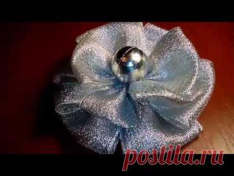 Бантик из атласной ленты. МК. Master class on making of a bow - YouTube