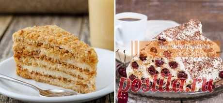 ТОП-5 САМЫХ ПОПУЛЯРНЫХ ТОРТОВ Все торты готовятся очень легко и быстро!