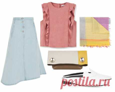 With what to wear a skirt from a thin denim?