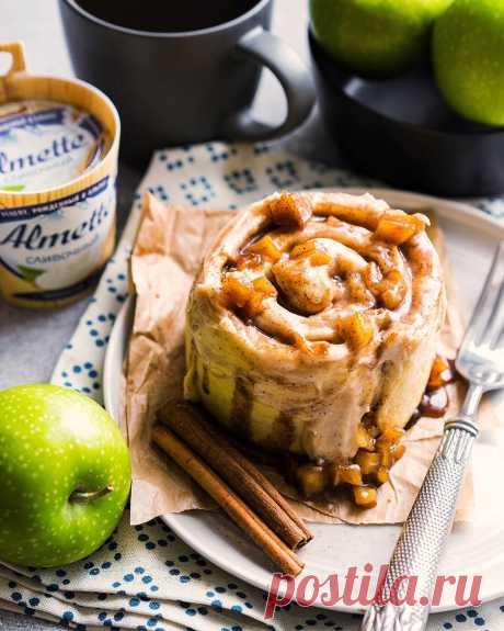 Булочки с корицей (синнабон), яблоками и сливочным кремом | Andy Chef (Энди Шеф) — блог о еде и путешествиях, пошаговые рецепты, интернет-магазин для кондитеров |