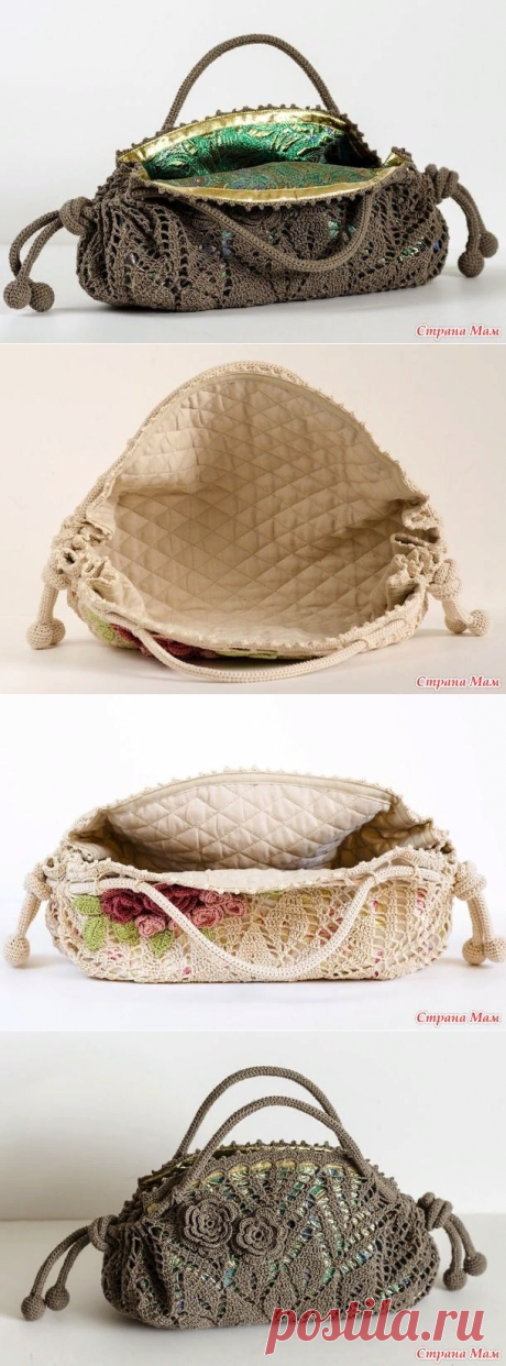 Красивые сумочки из круглых салфеток
