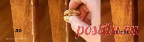 Удаление царапин на деревянной мебели
