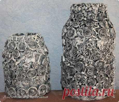 вазы из банок и бутылок   Страна Мастеров