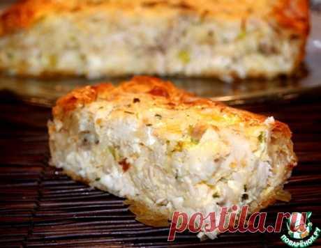 Греческий деревенский пирог с курицей – кулинарный рецепт