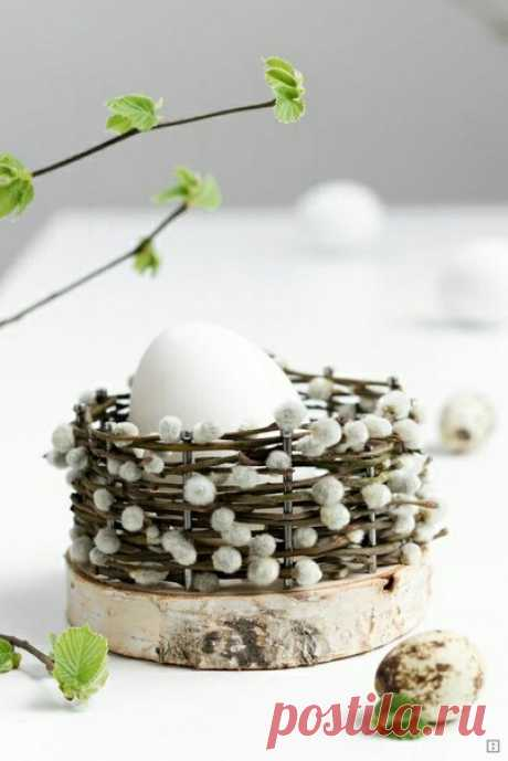 Сервировочная корзинка для 1 яйца diy / Пасхальный интерьер / ВТОРАЯ УЛИЦА