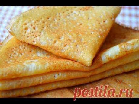 Тонкие Блины на Молоке с Дырочками.Секрет Тонких блинчиков|Thin Pancake Recipe. - YouTube