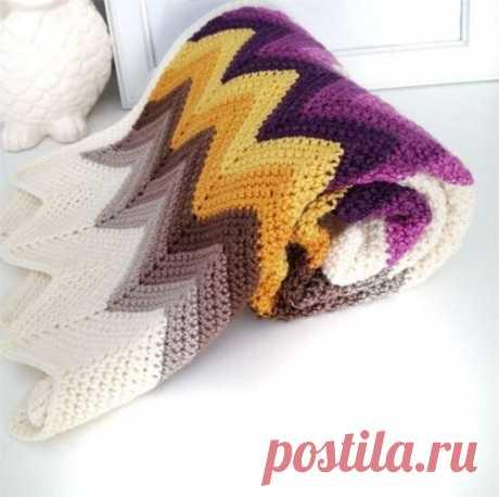 Симпатичный узор шарф с зигзагообразным узором