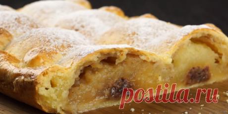 пирог из яблок, творога, фиников и грецкого ореха