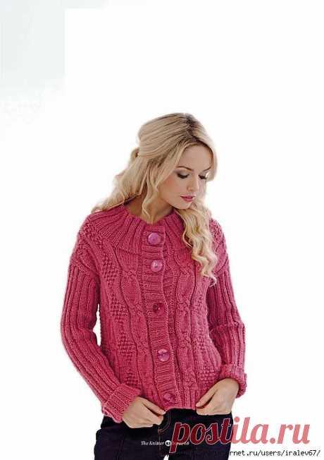 Вязание жакета Ailish, The Knitter 68..